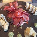 tuna sashimi, nigiri sashimi, spider special roll