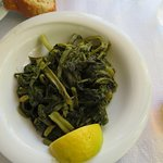 Boiled greens, one of my wife's favorite specialities
