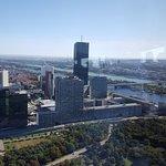 Zicht op de Donau en de VN dependance