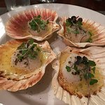 The Oven Roasted Sea Scallops in a lemon-chive butter