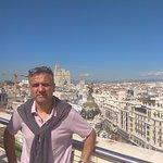una de las terrazas en la gran Via de Madrid