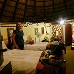 Inside our hut !