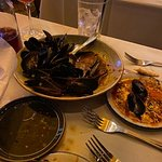 Steam Mussels in a red sauce