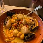 The Seafood pasta dish