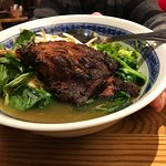 Thin noodles with duck. Spectacular!