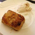Torrija de orxata con helado
