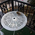 Our balcony with a full ashtray