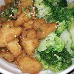 poulet général tao, soi disant aux légumes. en fait à un légume