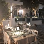 Outdoor tables at D'Angelos