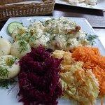Kluski śląskie z filetem w sosie porowym
