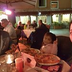 Enjoying the ambience! We had the Risotto al funghi and it was a revelation to us! The creamines