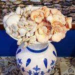 Cogumelo shimegi salmão e branco
