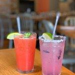 Blueberry and Strawberry Jalapeño Margaritas