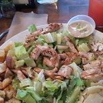 Chicken Caesar Salad and Strawberry Lemonade