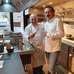 Chef Carles Gaig en su cocina