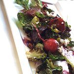 Local beet salad with goat cheese