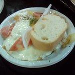 Huevo, patatas y jamón