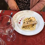 Passion fruit cheese cake.