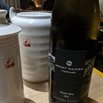 Sake and wine - not driving home, hotel was 50m away