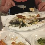 This is my wife's sea bass .