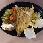 Mountain Trout with butter and baked potato