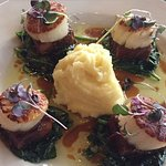 Chefs special- Scallops and pork belly- YUM YUM