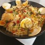 Plat du jour à 9€90, riz aux saveurs marines