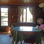 Cabin #2, the front room looking toward the river.
