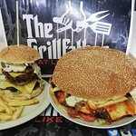 "On the left is ""Tsek burger"" and to the right, it weight 2.8 kg or 6.17294 lbs, and its called t"