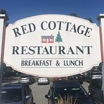 Sign at The Red Cottage Restaurant