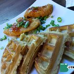 Chicken and waffles. Ok..