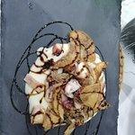 Polpo su vellutata di patate