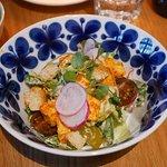 Tofu caesar salad