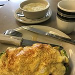 Had to have grits, because they are so good and not offered in the Midwest.