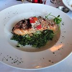Crispy Salmon with Spinach