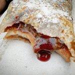 Chocolate and cherry crepe