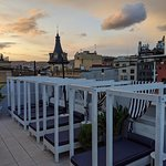 Rooftop lounge chairs