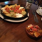 Lovely patatas bravas but nachos could be improved with adding fresh guacamole.