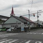 鶴岡カトリック教会天主堂遠景