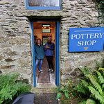in the pottery shop
