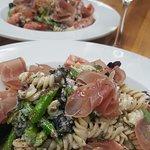 Mynonnos.com     or  619 337 9559 call Prosciutto fusilli pasta salad