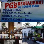 Many faces of PG's Restaurant and Wine Bar