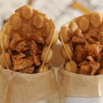 Whats better than one chicken and waffles? TWO chicken and waffles!!