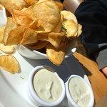 Homemade chips starter - yum!