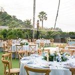 wedding reception at The Andaman Lawn