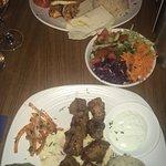 Lamb kebab & chicken & halloumi kebab