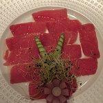 Thunfischcarpaccio, einfach lecker