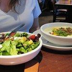 Potato Soup and Salad Combo