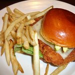 Chicken sandwich and fries