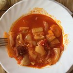 LECSO I cooked in Hungary in a house we rented in Szeremle THAT is how a lecso should look and T